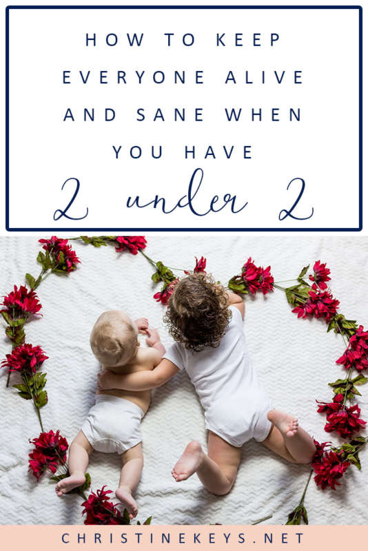 Infographic about dealing with two under two