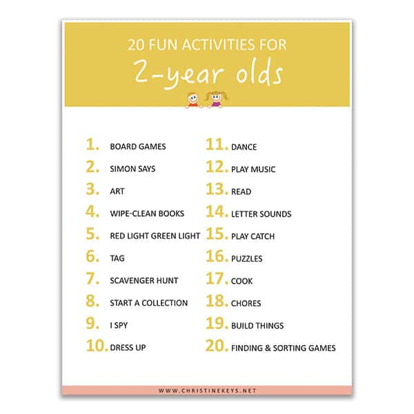 20 Fun Activities to Do With a 2 Year Old