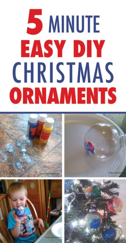Pinterest image about easy diy christmas ornaments