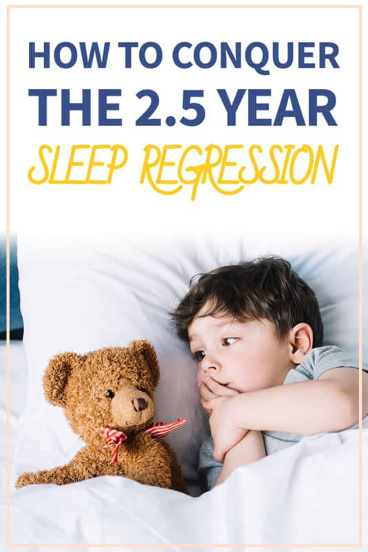 Pinterest image about the 2.5 year sleep regression