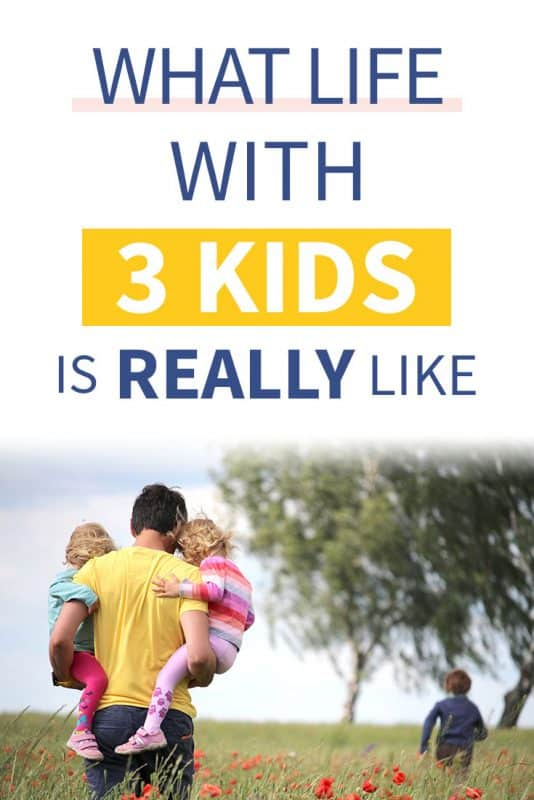 Pinterest image about life with three kidsq`
