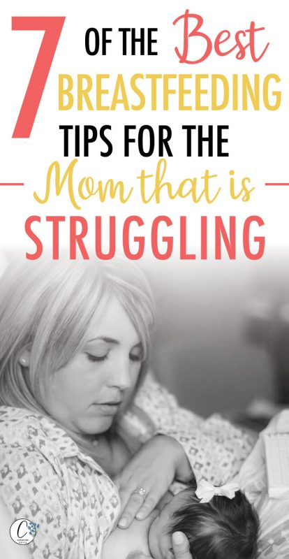 Pinterest image about the best breastfeeding tips for moms