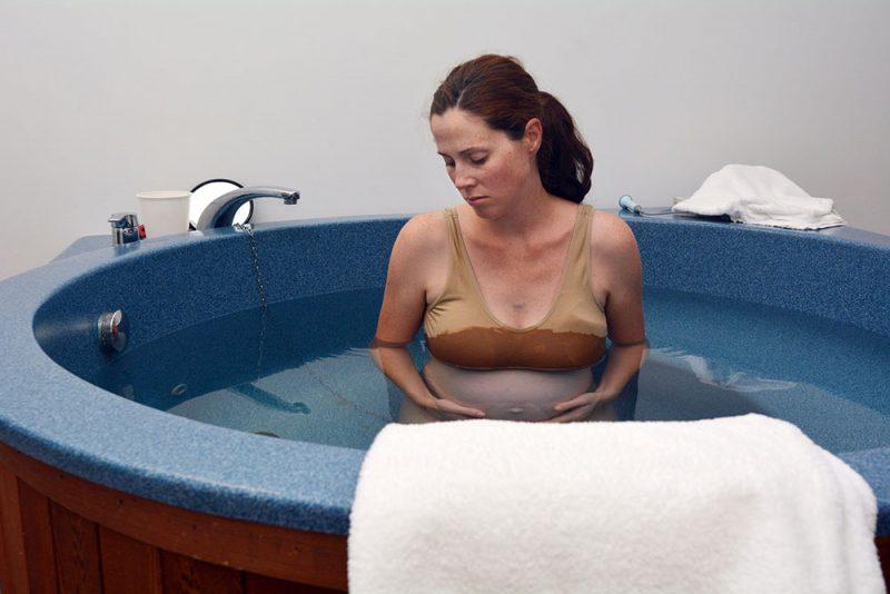 woman having a water birth