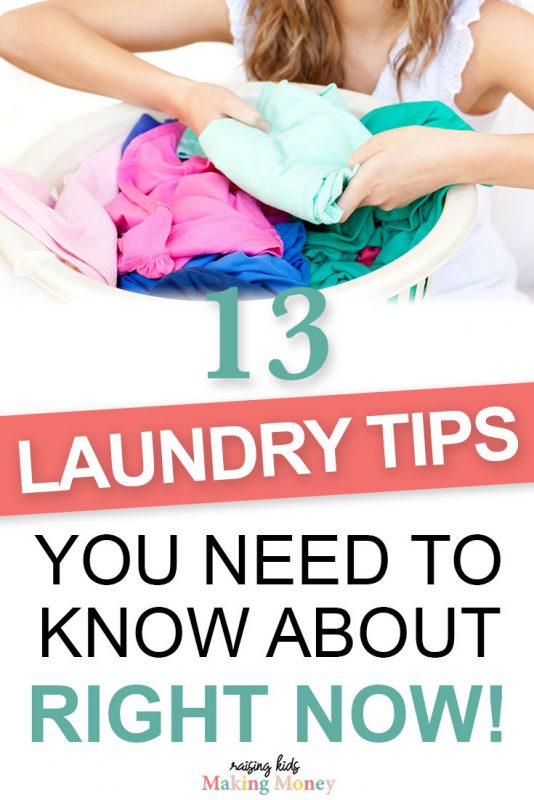 laundry tips you need to know about pinterest image