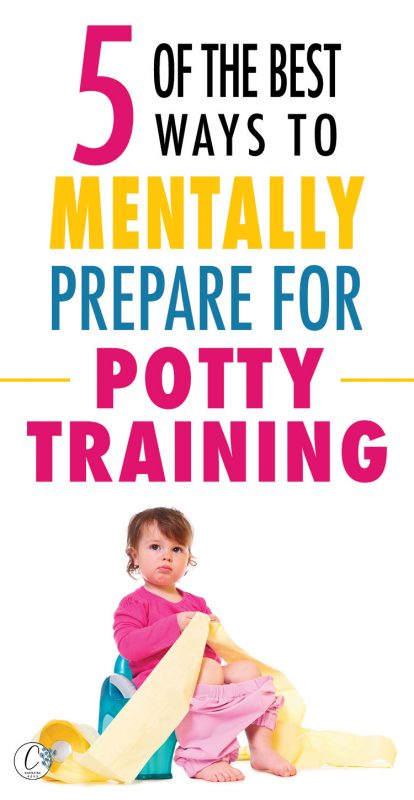 Pinterest image about preparing for potty training