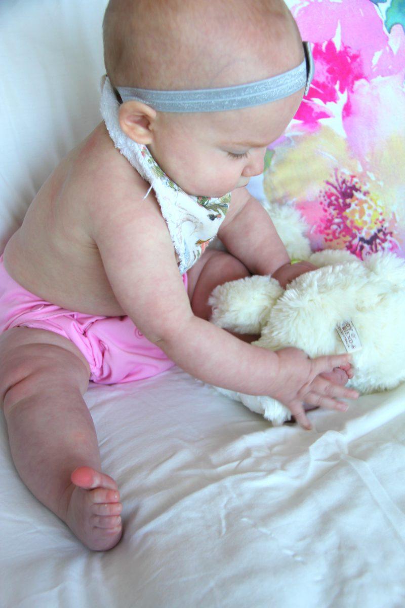 baby wearing alva baby diaper