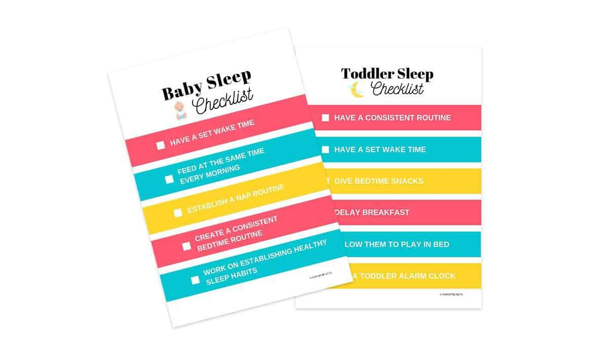 how to get your baby to sleep later checklists