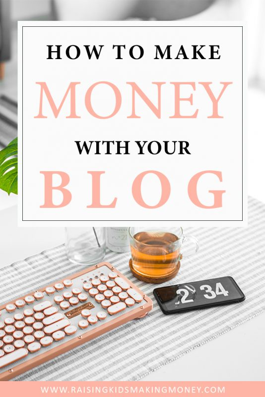 how to make money with your blog pinterest image