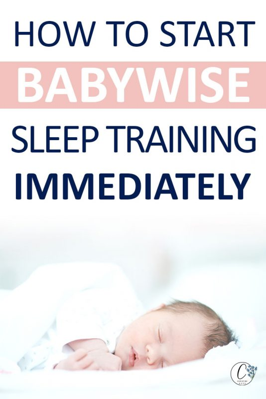 Pinterest image about how to start Babywise sleep training