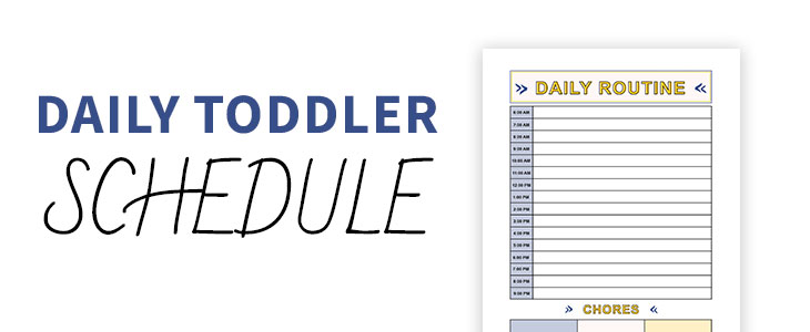printable toddler daily schedule