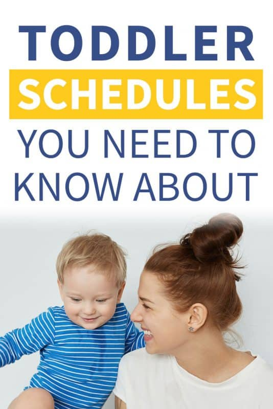 Pinterest image about toddler schedules