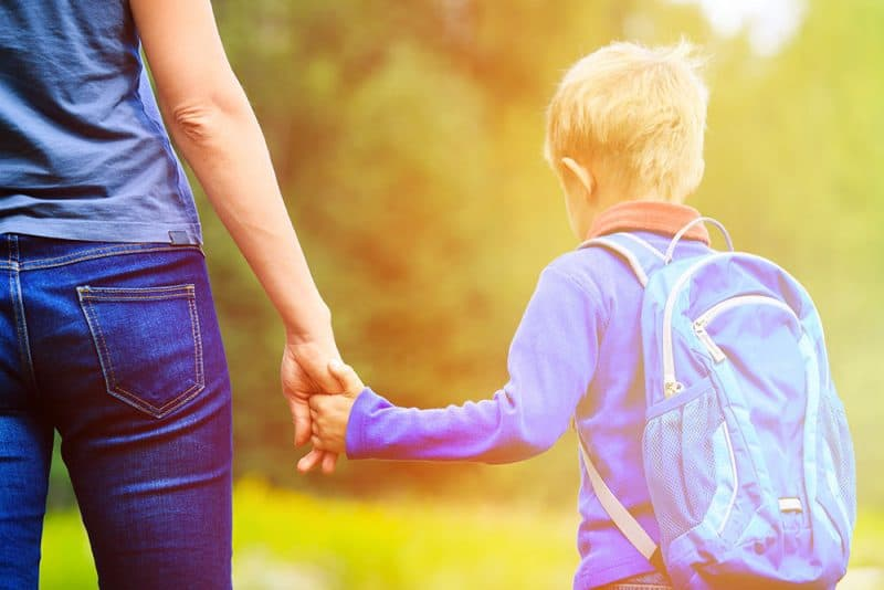 Parenting taking child to preschool