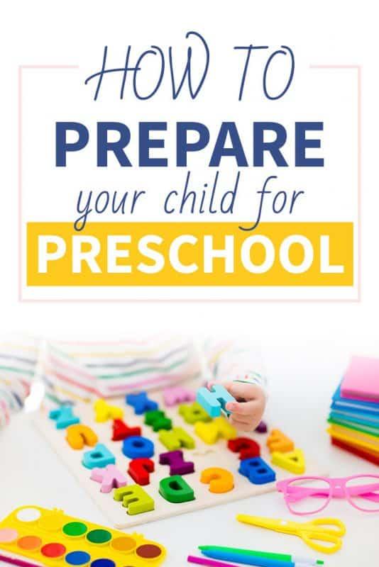 Pinterest image about how to prepare your child for preschool