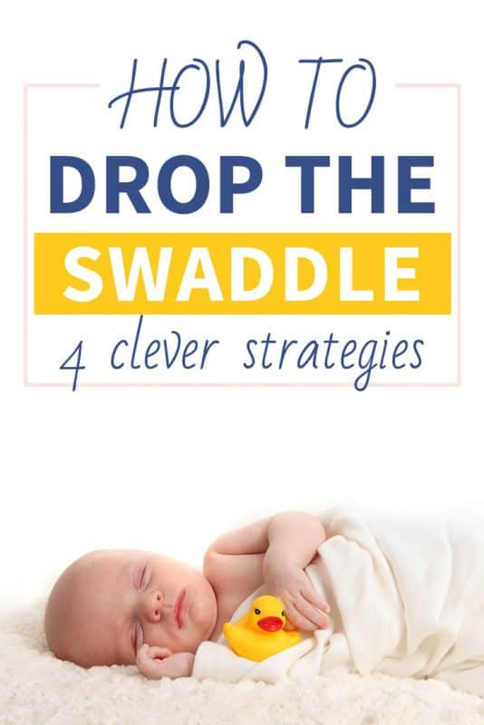 Pinterest image about the swaddle transition