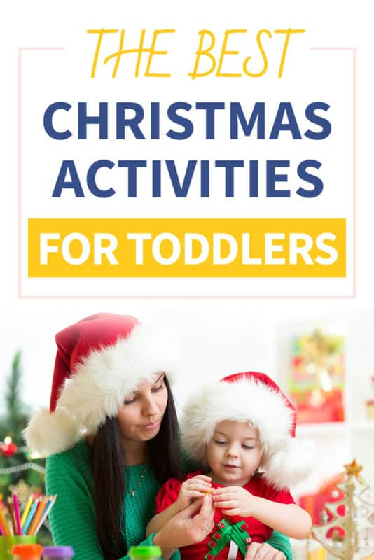 Pinterest image about christmas activities for toddlers