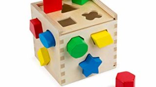 Melissa & Doug Shape Sorting Cube Classic Wooden Toy