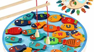 CozyBomB Magnetic Wooden Fishing Game