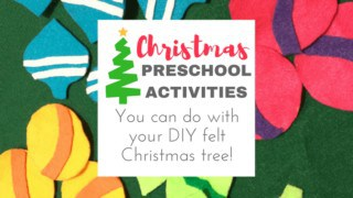 3 Simple Toddler Learning Games to Try with Your Felt Toddler Christmas Tree
