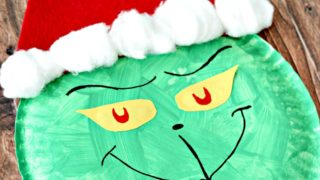 Grinch Paper Plate Craft For Kids
