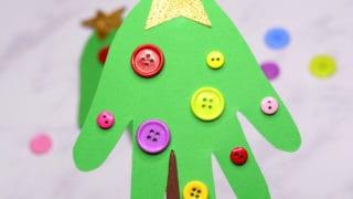 Handprint Christmas Tree – Christmas craft for kids or a DIY ornament