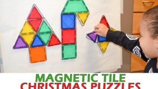 Magnetic Tile Christmas Puzzles
