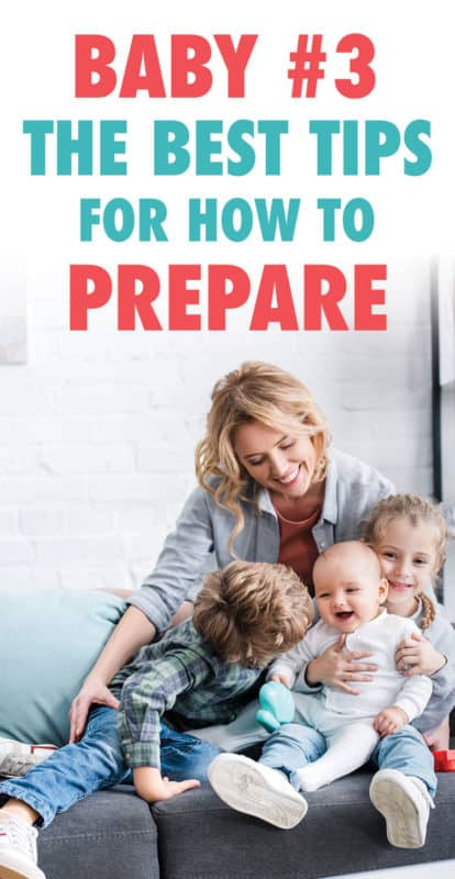 Pinterest image about baby number 3