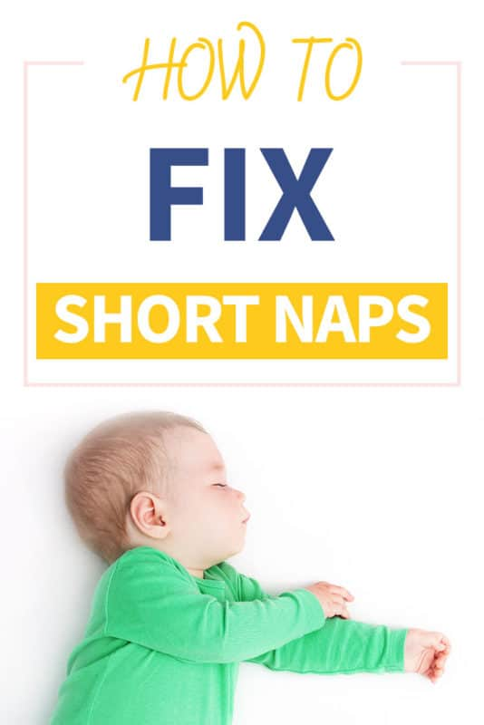 Pinterest image about how to get baby to sleep longer than 30 minutes
