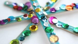 Sparkly Snowflake Craft for Kids