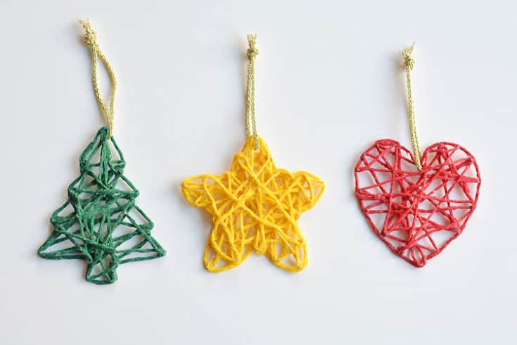 How to Make Wrapped Yarn Ornaments