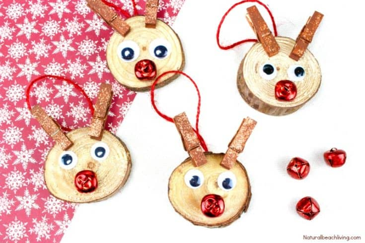 Easy to Make Rudolph Christmas Ornaments Kids Will Love