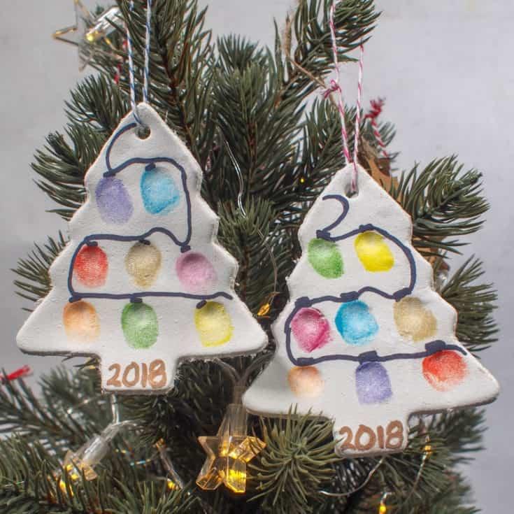 Fingerprint Christmas Tree Ornament – Air Drying Clay 2