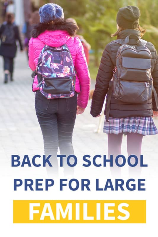 Pinterest image about back to school prep