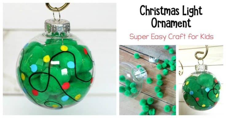 Adorable Christmas Light Ornament Craft- Quick and Easy!