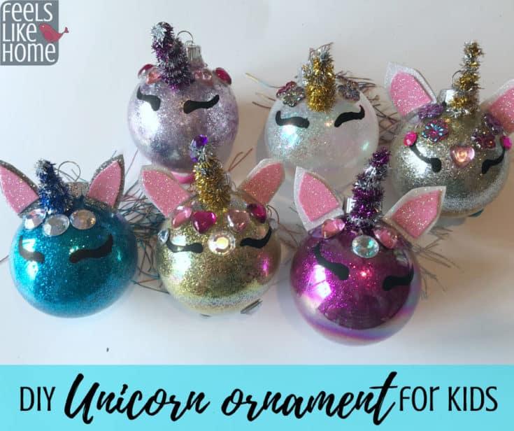 Unicorn Ornament - DIY Christmas Tree Ornament Craft for Kids