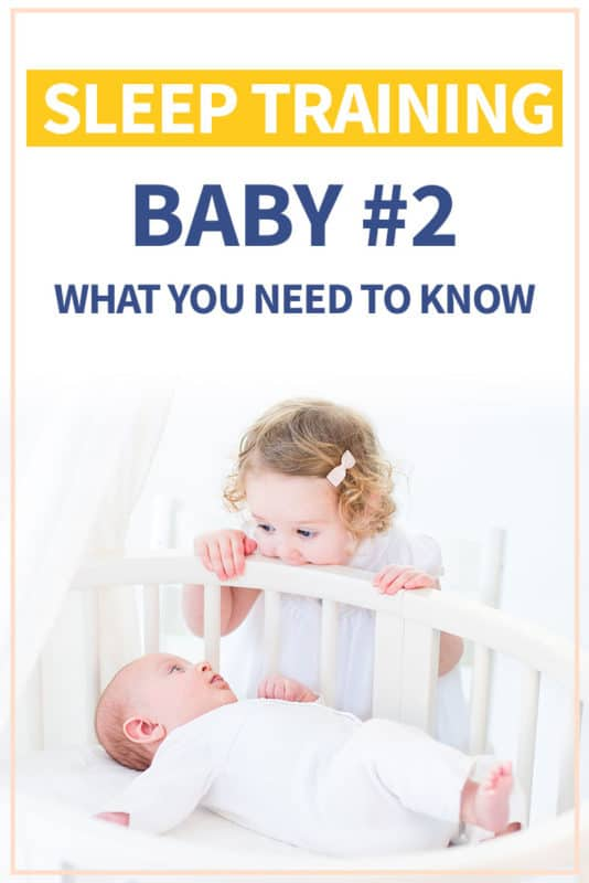 Pinterest image about how to sleep train your second child