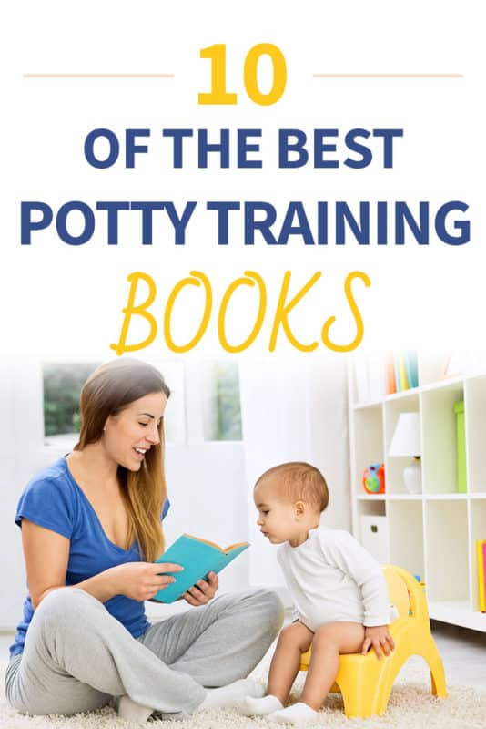 Pinterest image about the best potty training books