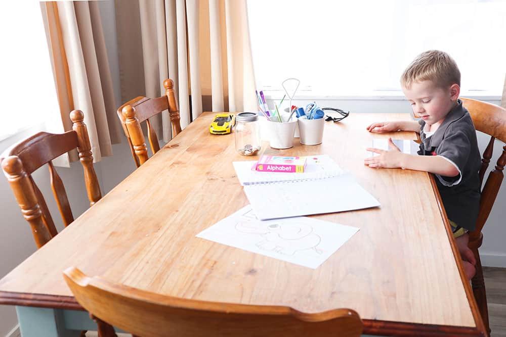 preschooler doing the best homeschool preschool curriculum