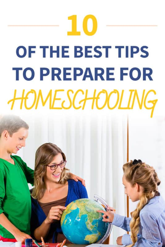 Pinterest image about preparing to homeschool