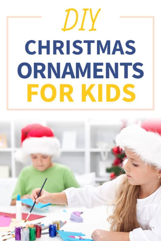 Pinterest image about DIY Christmas ornaments for kids