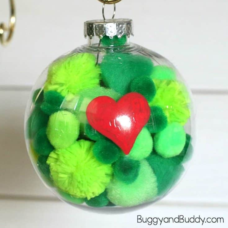 The Grinch Christmas Ornament Craft for Kids