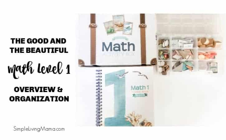 The Good and the Beautiful Math 1 Overview and Organization