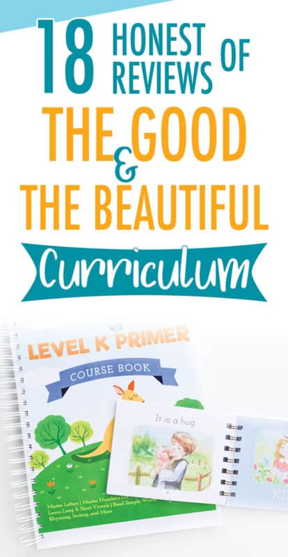 Pinterest image about the good & the beautiful curriculum reviews