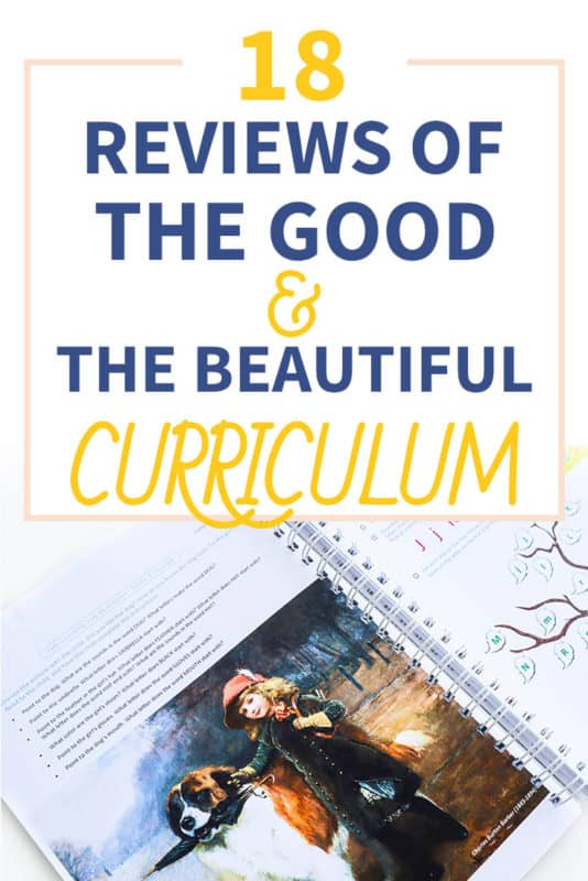 Pinterest image about the good & the beautiful reviews