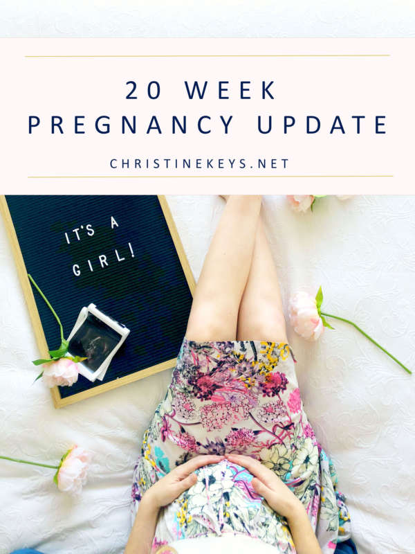 20 Week Pregnancy Update || Find out all about what happened during weeks 17-20 of pregnancy + our cute gender announcement. #pregnancy #motherhood #babies #genderreveal #genderannouncement #babygirl