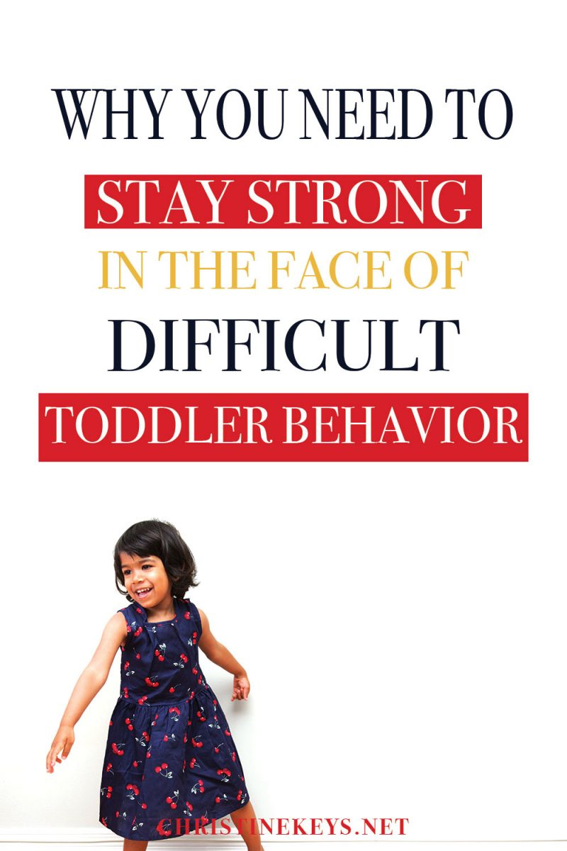 Infographic about difficult toddler behavior