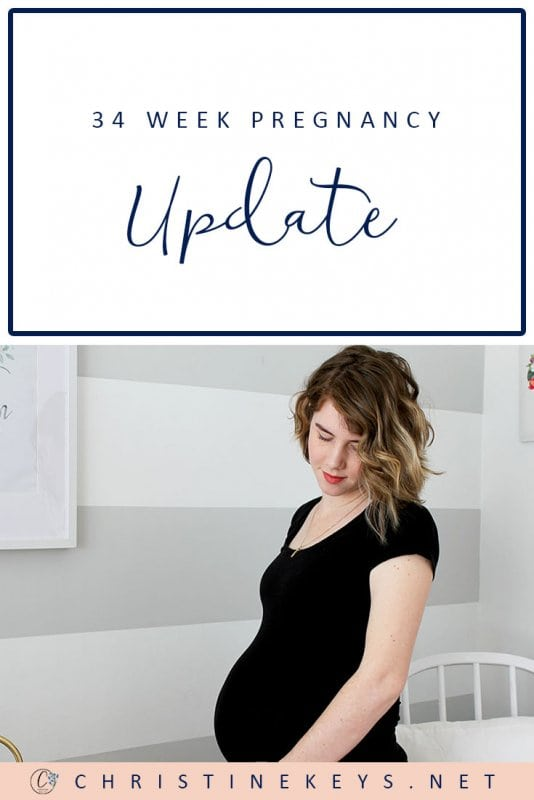 34 Week Pregnancy Update: Packing the Hospital Bag! || It's time to start packing and really getting ready for the arrival of this baby. Find out what pre-labour signs I've been experiencing this week. #pregnancy #motherhood #labor #childbirth #babies #children