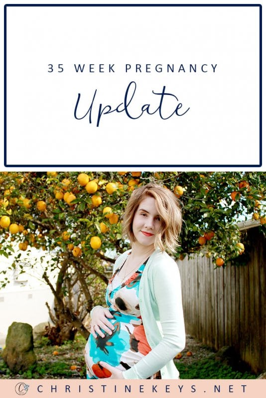 35 Week Pregnancy Update: Off to the Chiropractor || Oh the joys of the final stages of pregnancy! Find out what the 35th week of pregnancy can be like. #babies #pregnancy #pregnancyupdate #motherhood #newborn