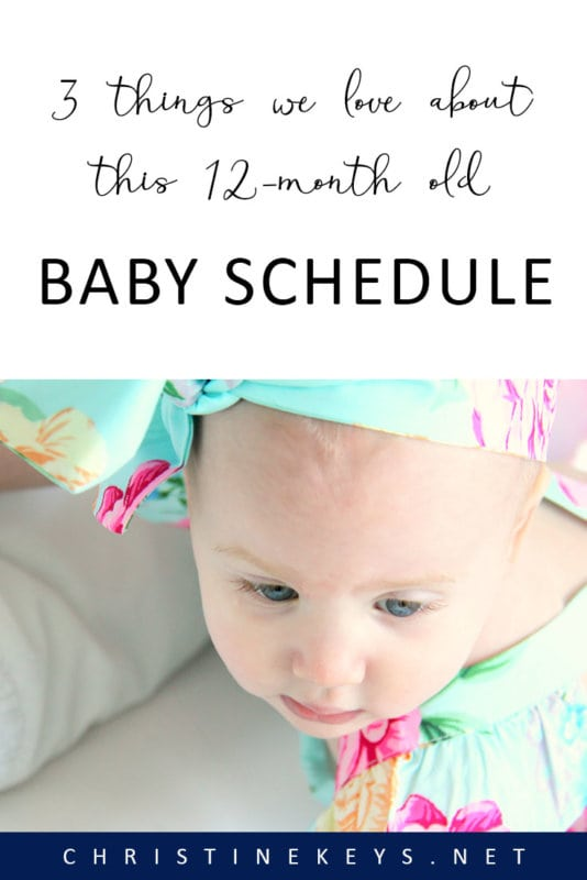 3 Things We Love About This 12-Month Old Baby Schedule || Get an update on the best things about our baby schedule at 12 months as well as some gorgeous shots of Annie's 1st birthday party! #babyschedule #baby #oneyearold #toddler #parenting #motherhood #firstbirthday #birthdayparty #vintageparty #partyideas #cakes