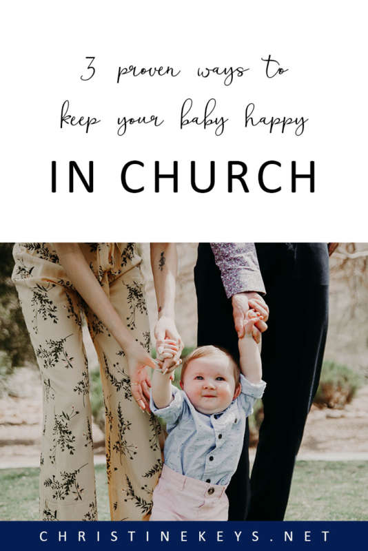 3 Proven Ways To Keep Your Baby Happy In Church || It can be tricky when attending church messes with your baby's routine. Use these three tips to help your baby stay content during the service. #parenting #church #faith #babies #routine #babywearing #motherhood