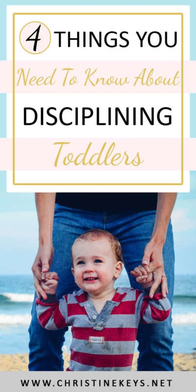 4 Things You Need To Know About Disciplining Toddlers | Discipline can be an overwhelming issue for many parents. Keep things simple by focusing on these key principles in regards to toddler discipline. #babywise #toddlers #toddlerdiscipline